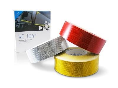 Светоотражающая лента Reflexite VC104+ желтая